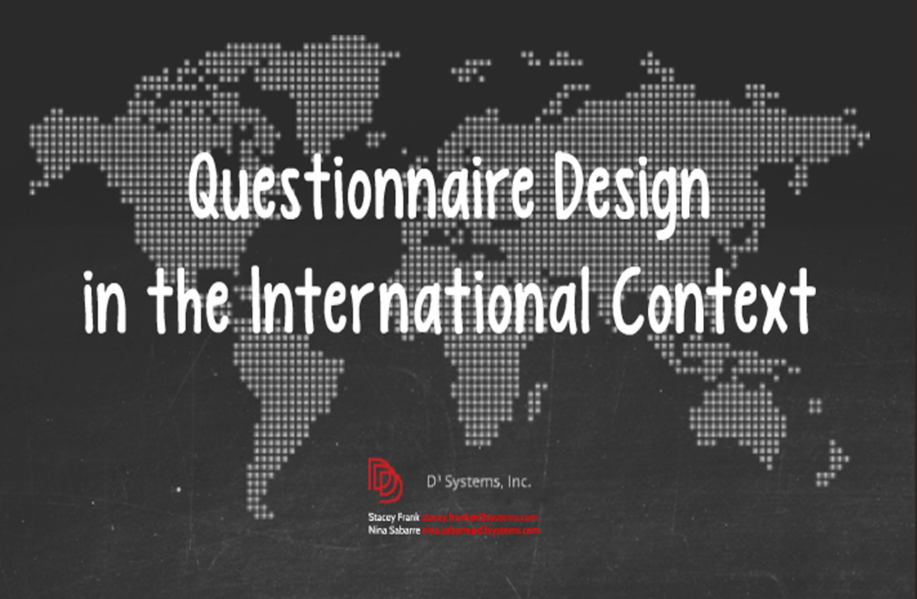 Poster design questionnaire - Questionnaire Design In The International Context Prezi Included
