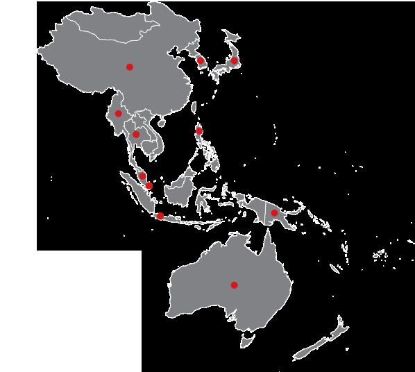 East Asia Southeast Asia Oceania D Systems D Systems - East asia oceania map